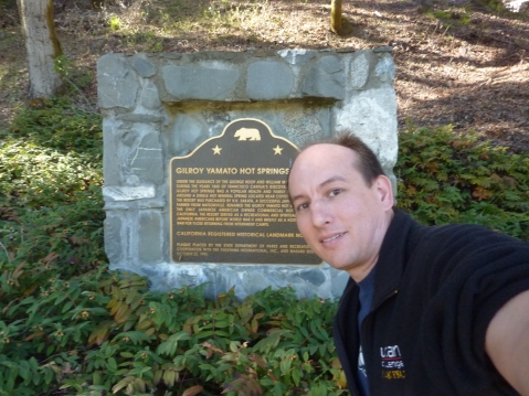 James at a California Historical Landmark marker